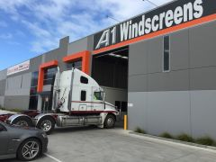 Quick truck windscreen replacement By A1 Windscreens fast glass At Pakenham work shop